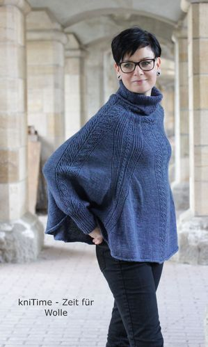 *Walk with me* Poncho-Pulli für Damen