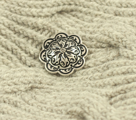 Floral Relief Pedestal Button