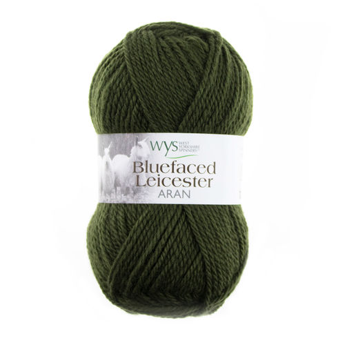 *Avocado Green* Bluefaced Leicaster ARAN