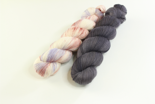 "*Set 6* Strickset Tuch ""summerwings"""